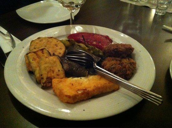 Delphi: verdura impanata con polpettine