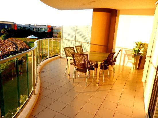 at Marina Shores: Lower floor balcony