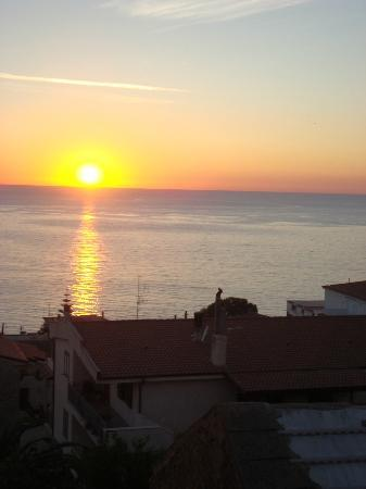 Hotel Santa Caterina : Sonnenuntergang über Palinuro