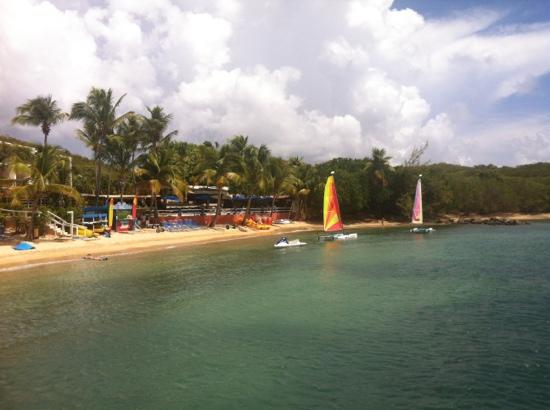 Bolongo Bay Beach Resort: Bolongo Bay - view from Heavenly Daze.