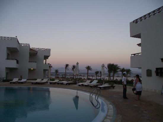 Sea Sun Hotel Dahab: sunset from the bar