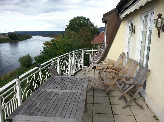 Elbresidenz Birkwitz : Terrace