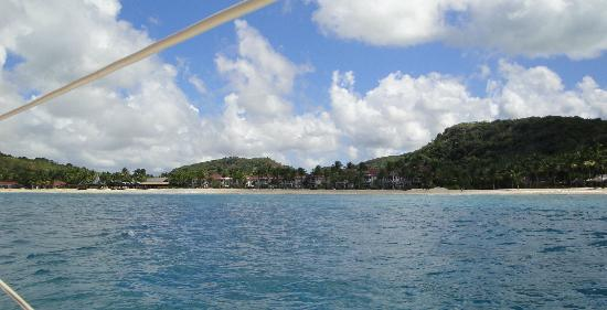 Galley Bay Resort: view of Galley Bay from the sea