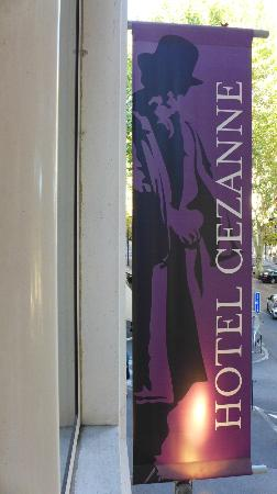 Hotel Cezanne: Sign outside