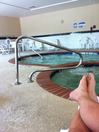 Comfort Suites Mabank : The Indoor Pool & hot Jacuzzi . Top Notch !