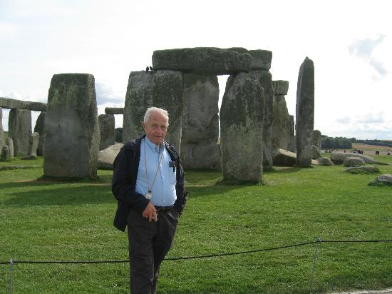 The English Bus: My husband at Stonehenge.