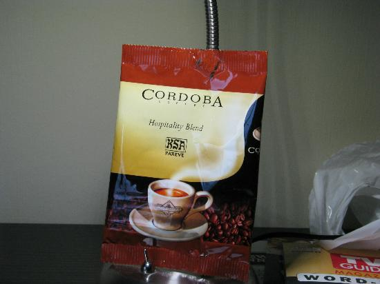 King William Inn: Cardoba Coffee, Excellent Blend For Your Room!