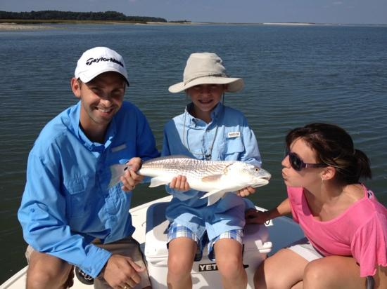 Red fish picture of live oac outdoor adventure company for Red fish hilton head