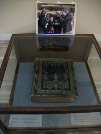 Alabama Department of Archives and History: Bible Jefferson Davis was sworn in on