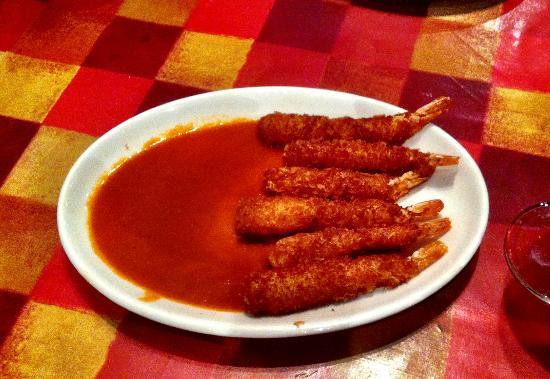 Don Fernando's: Don Fernando - torpedos prawns with picante sauce