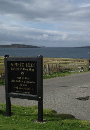 The Summer Isles Hotel and Restaurant: View from the car park