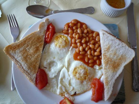 Bunbeg House : Vegetarisches Frühstück