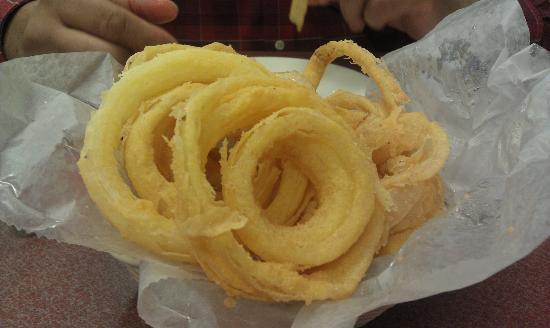 The Shack Restaurant : Hand battered onion rings
