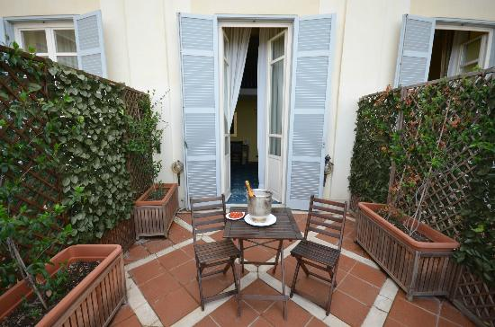 Hotel San Giorgio: The terrace outside the junior suite