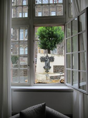 Moselschlösschen: View from enormously tall windows