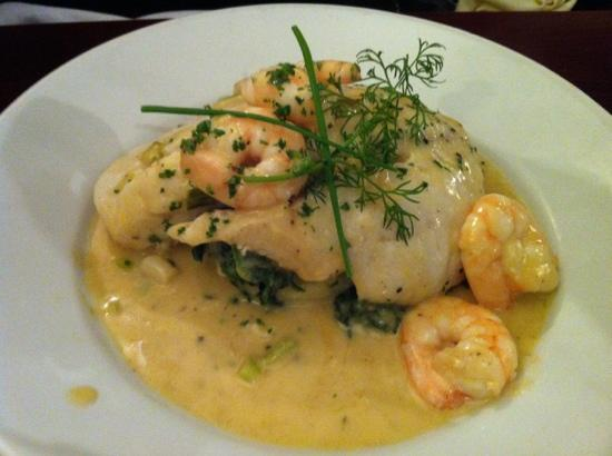 The Old Quarter Restaurant: baked cod with lemon sauce