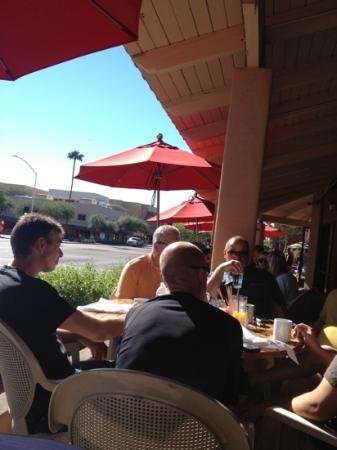 The Breakfast Club: patio seating in downtown Scottsdale