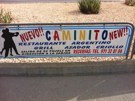 Caminito: Publicidad en valla de la gasolinera.
