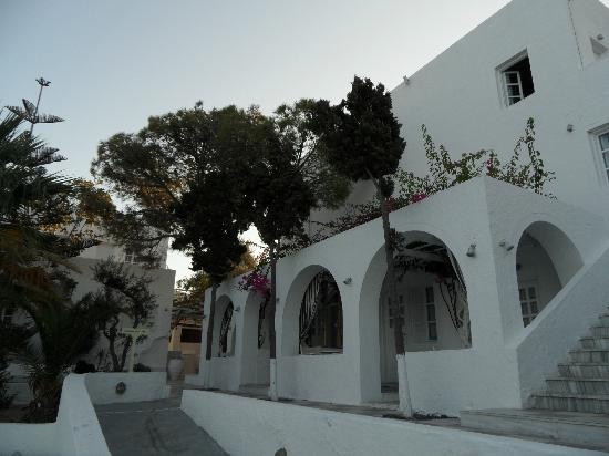 Thalassa Sea Side Resort & Suites: The main building of the hotel