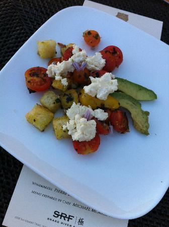 Signorello Estate Winery: Panzanella Salad with mangled, spotted avocado