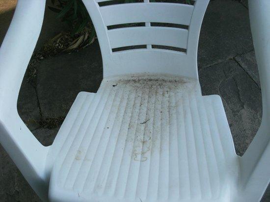 Logis Les Vignes Blanches : zo zagen stoelen rond zwembad er uit