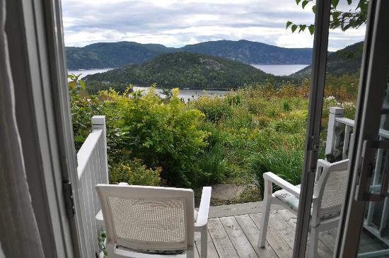 La Maison Harvey Lessard : Vue de la terrasse de notre chambre