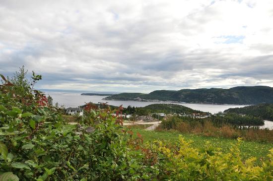 La Maison Harvey Lessard : Vue depuis la chambre sur le fleuve et l'entrée du fjord