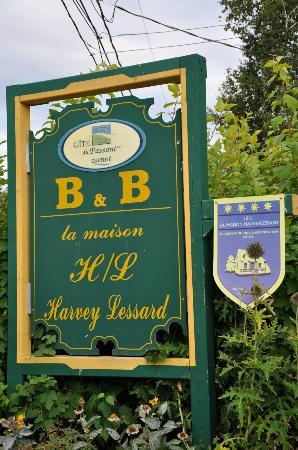 La Maison Harvey Lessard : Entrée du gîte