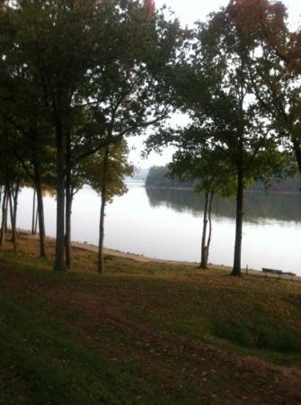 Lake Barkley Lodge: view from our room.