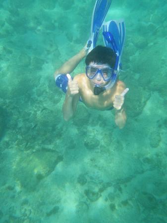 Chileno Beach: great snorkeling