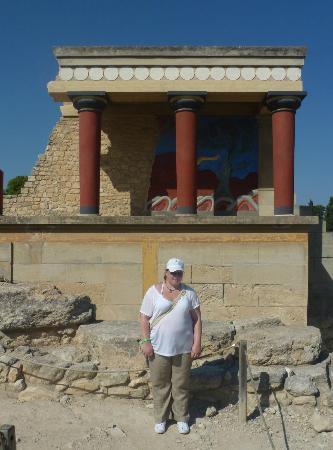 The Palace of Knossos: Sister near Bull Fresco 