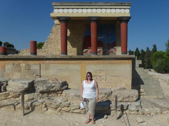 The Palace of Knossos: Me near Bull Fresco 