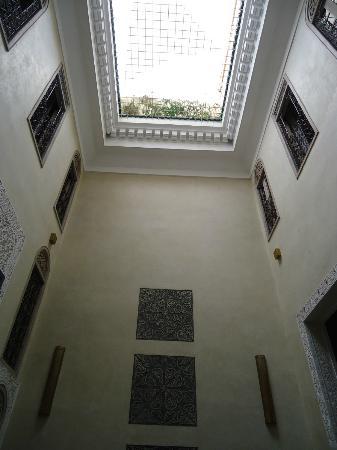 Riad Anata: Uitzicht vanuit het salon beneden