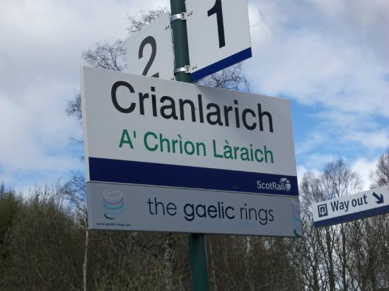 Crianlarich Station Tearoom: The Station Sign