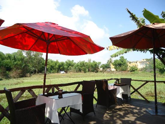 Thien Thanh Boutique Hotel: Uitzicht tijdens het ontbijt