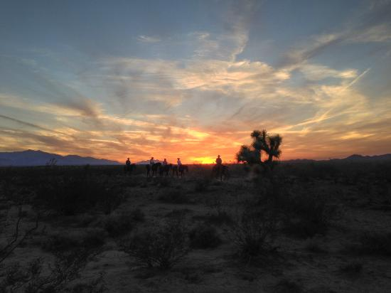 Stagecoach Trails Guest Ranch: Sunset ride at the ranch.