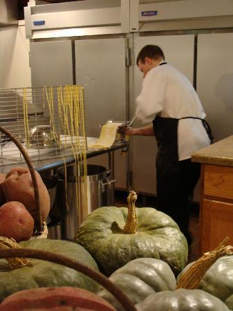 Harvest Thyme Bistro: Derek Making Noodles