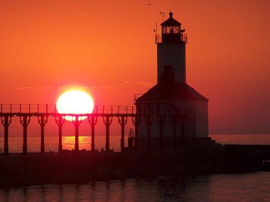 Michigan City, IN: Eye Candy sunsets from the beach.