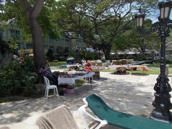 Sandals Regency La Toc Golf Resort and Spa : Bring money for the local vendors who come sometimes
