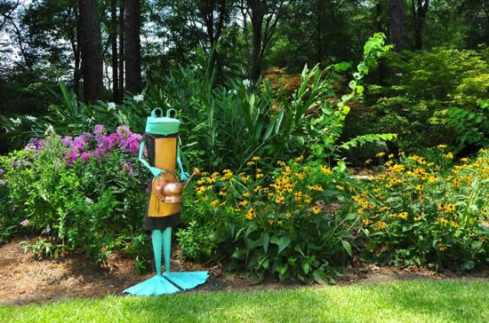 Cape Fear Botanical Garden: Frog Sculpture... Many Are Around The Gardens (