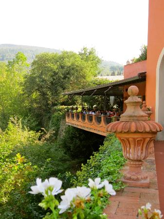 Villa La Massa: Overlooking the restaurant