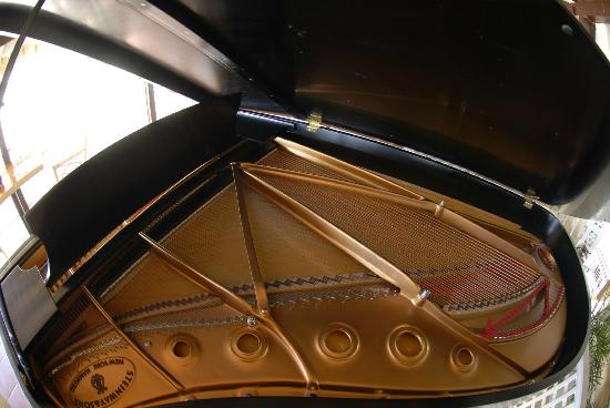 East Winds Inn: The Steinway Concert Grand in the Dining Room