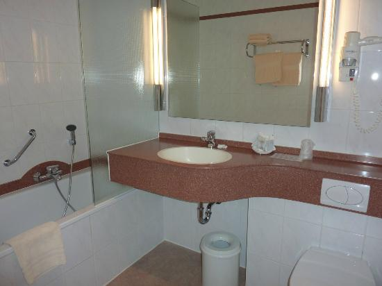 Anselmus Hotel: Note the low position of shower