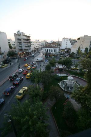 أبولو هوتل: view from the balcony 