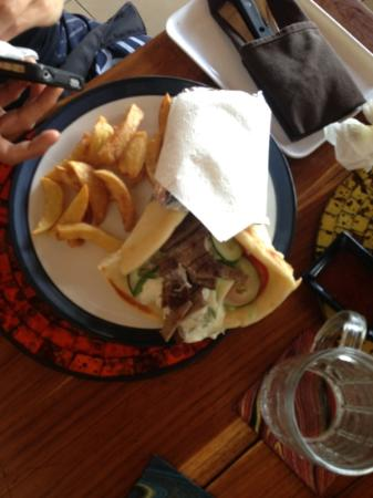 Nirwana Snack: Monster beef souvlaki! Great but too big to finish unless you're REALLY hungry or can eat heaps.
