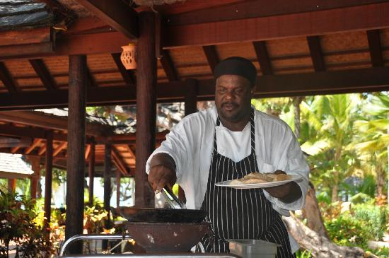 Palm Island Resort & Spa: Chef Baka's cooking demonstration