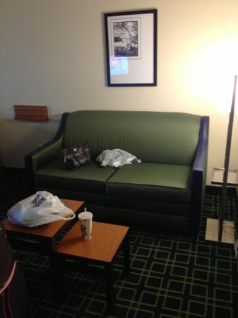 Fairfield Inn & Suites Visalia Tulare: Sofabed