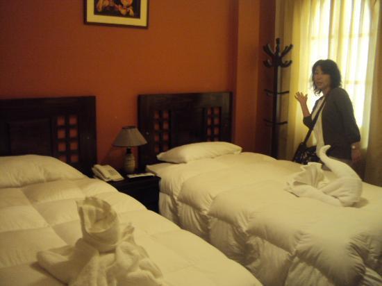 Inti Punku Macchu Picchu Hotel : 部屋の様子です。非常に狭いです。