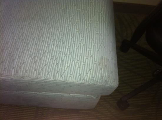 SpringHill Suites Cincinnati Midtown: filthy sofa