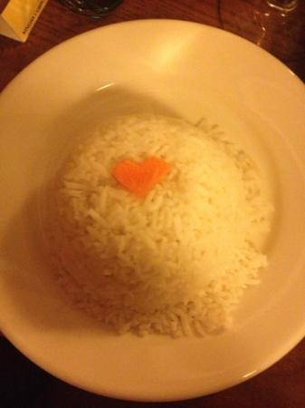 Thai Mango: white rice